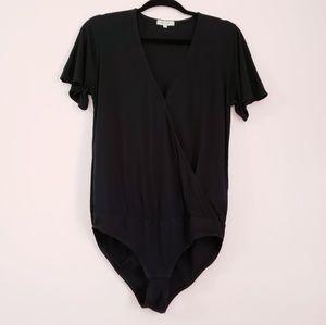 Madewell Black V-neck Bodysuit Size L